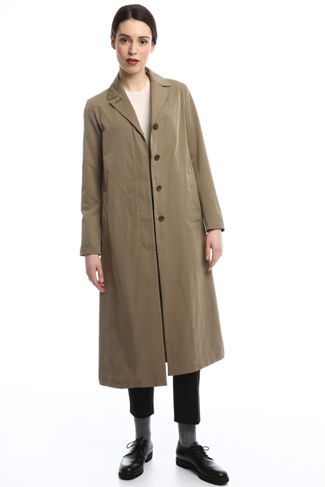 Long coat with slits Diffusione Tessile