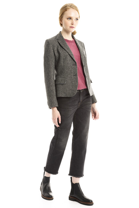 Short tweed jacket Diffusione Tessile