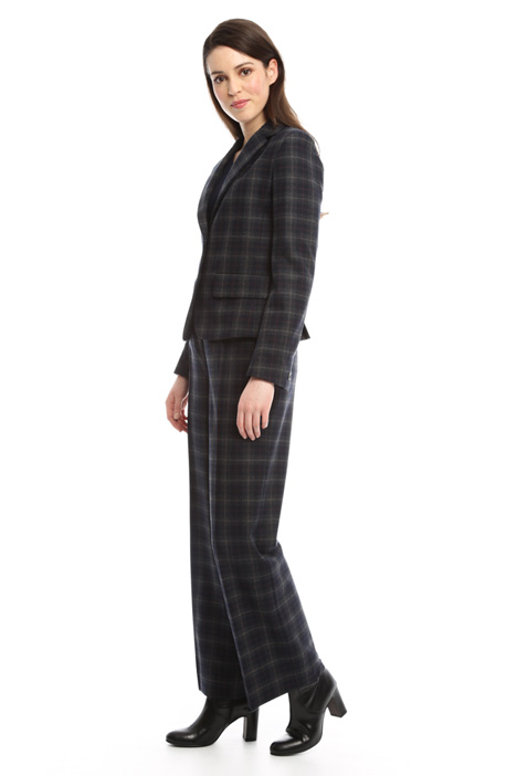Checked wool jacket Diffusione Tessile