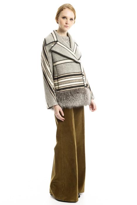 Coat with fur trim Diffusione Tessile