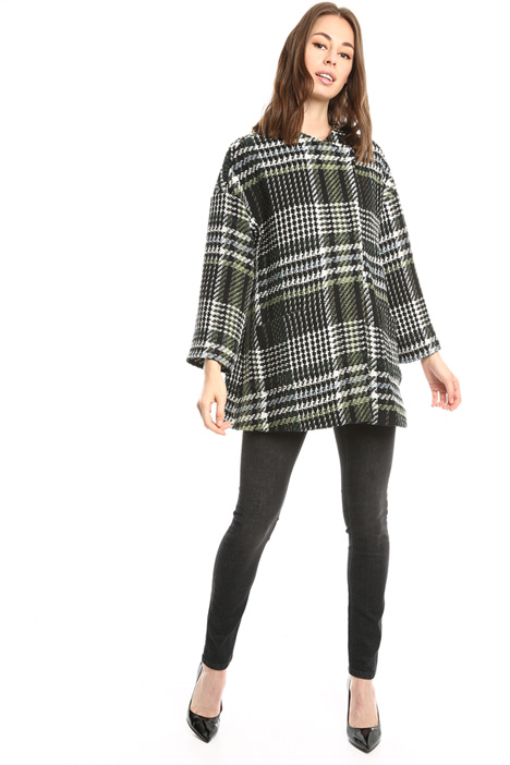 Checked wool-blend coat Intrend