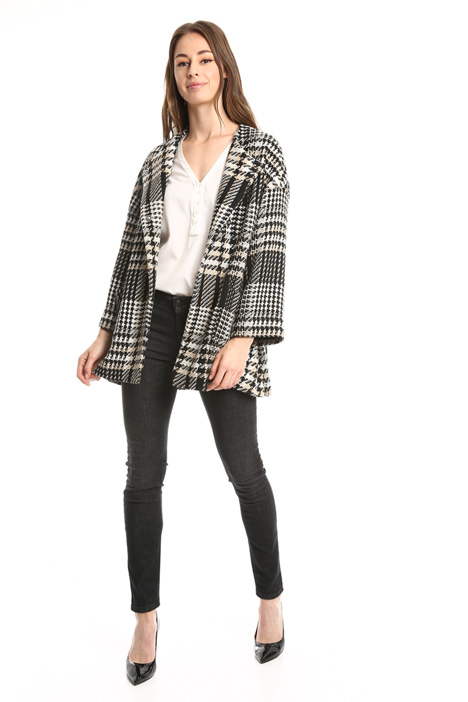 Checked wool-blend coat Diffusione Tessile