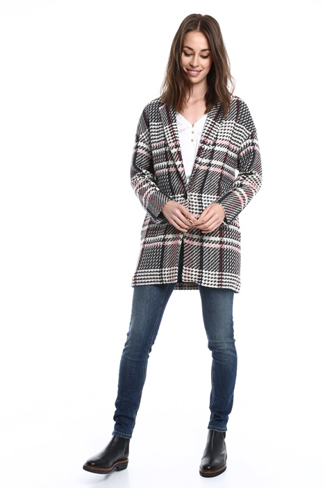 Unstructured checked coat Diffusione Tessile