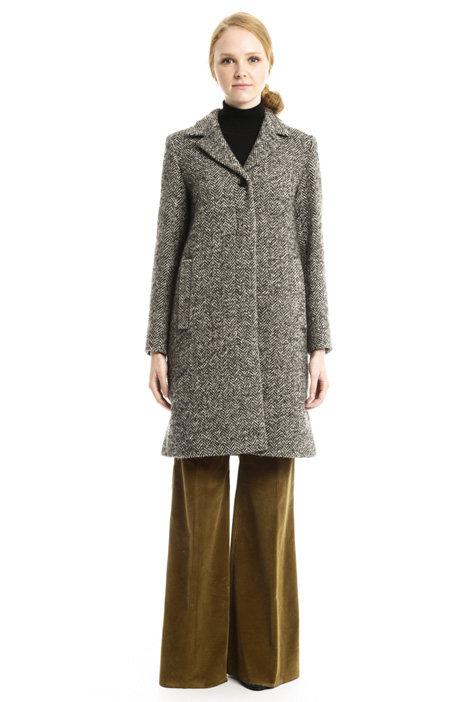Wool tweed coat Diffusione Tessile