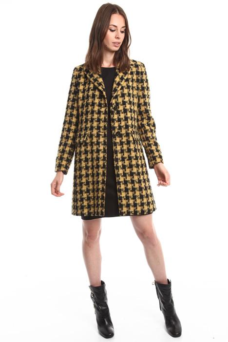 Cappotto check in misto lana Diffusione Tessile
