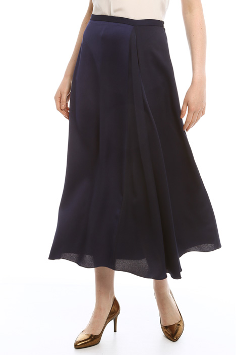 Long skirt in envers satin Diffusione Tessile