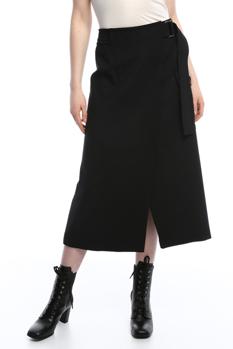 Flared gabardine skirt Intrend