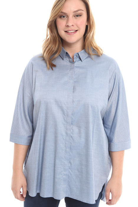 Camicia over in chambray  Diffusione Tessile