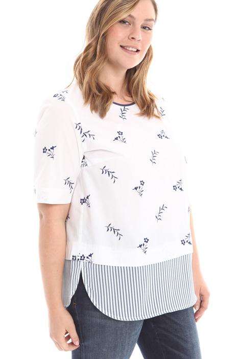 Camicia con fondo in tessuto Diffusione Tessile