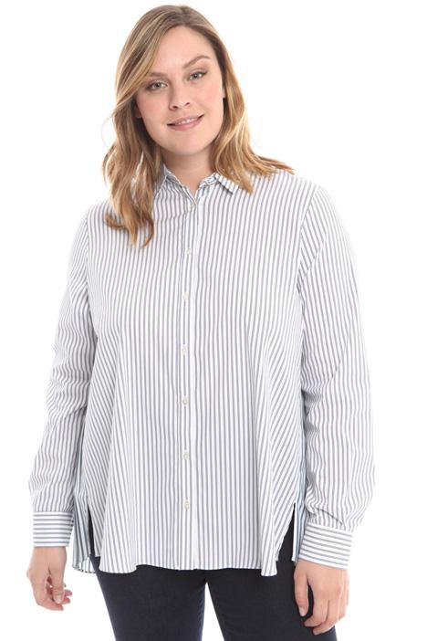 Shirt with plissé insert Intrend