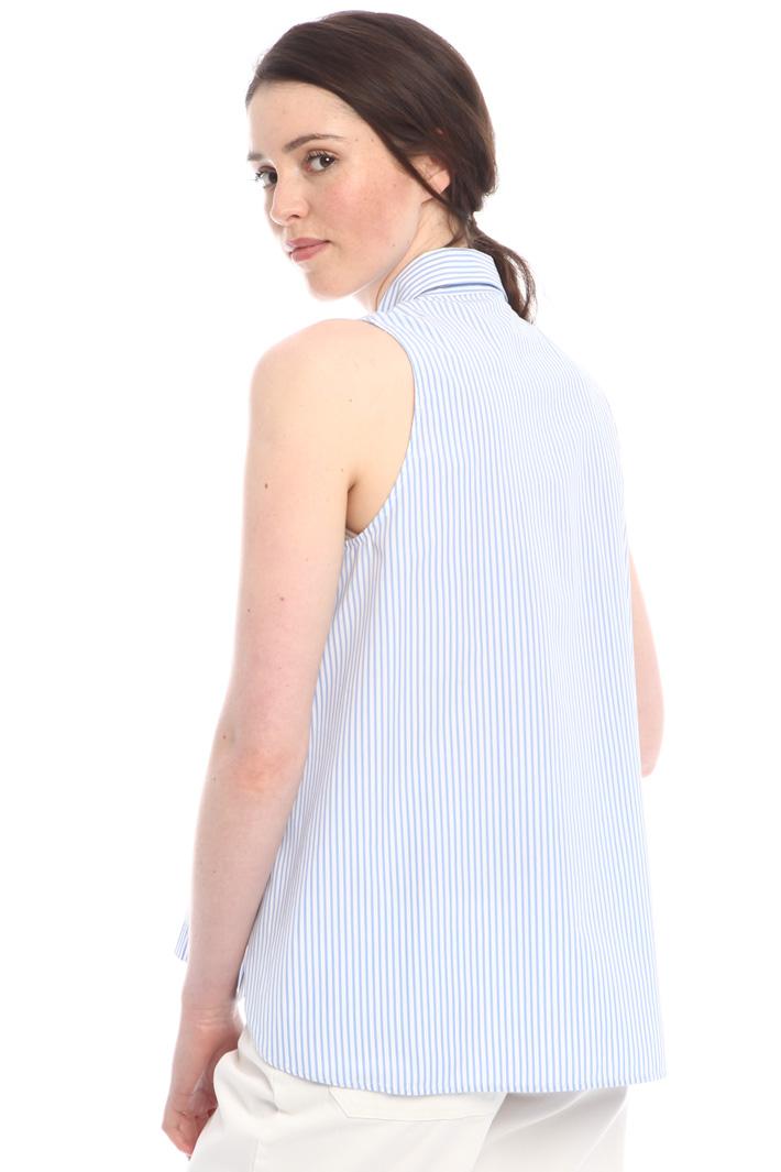 Camicia ricamata senza maniche Diffusione Tessile