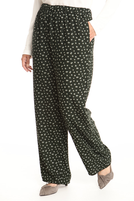 Patterned wide-leg trousers Intrend