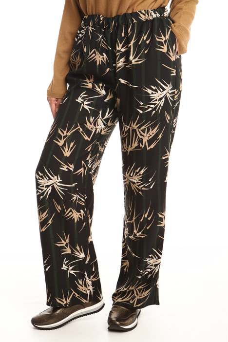Patterned wide-leg trousers Diffusione Tessile