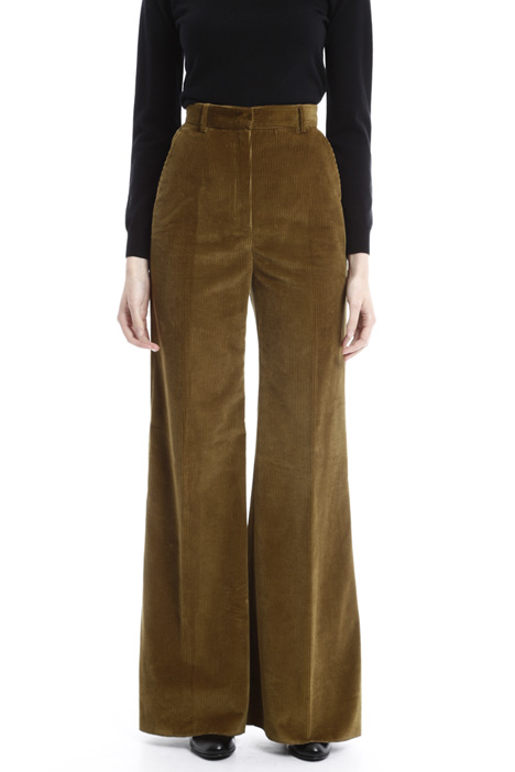 Ribbed velvet trousers Diffusione Tessile