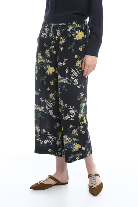 Pure silk trousers Diffusione Tessile