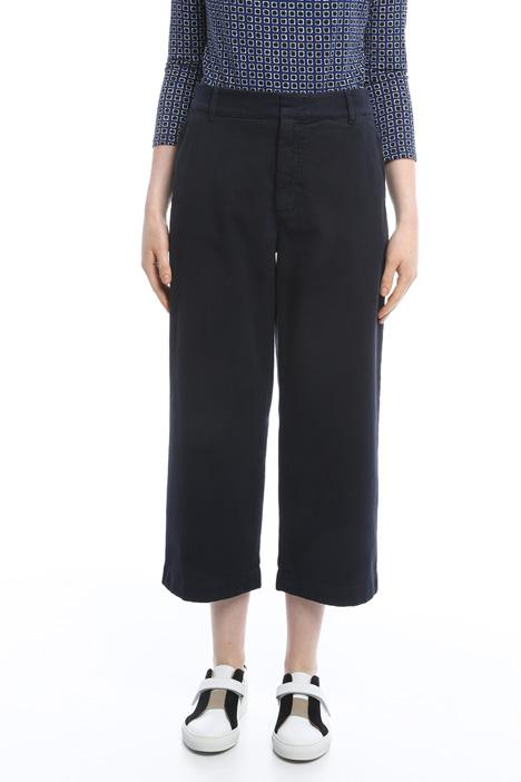 Pantaloni cropped in gabardina Diffusione Tessile