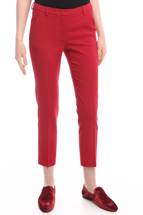 Pantaloni in viscosa e lana Diffusione Tessile