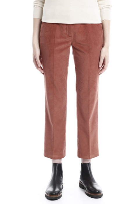 Cropped velvet trousers Diffusione Tessile