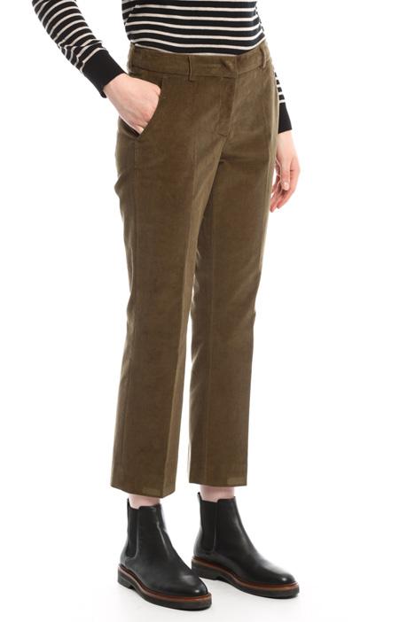 Pantaloni cropped in velluto Diffusione Tessile