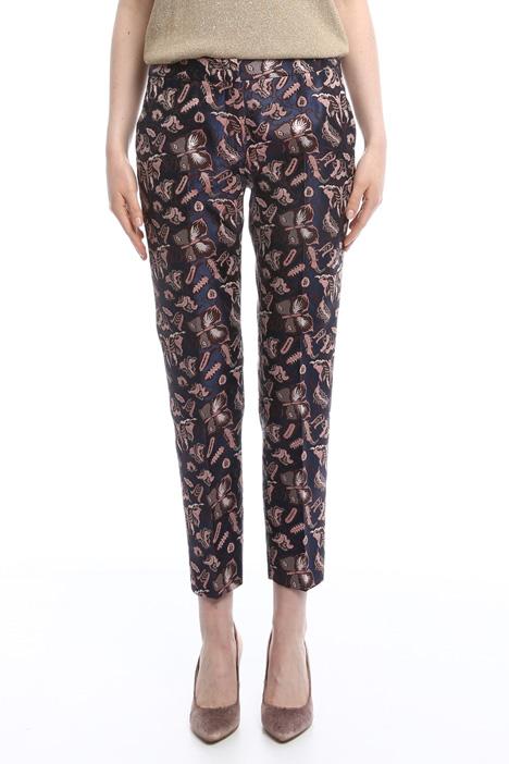 Pantaloni in jacquard lurex Intrend