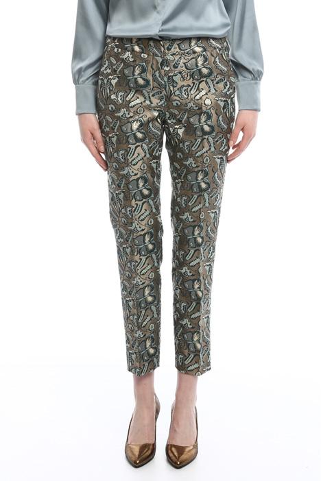 Lurex jacquard trousers Diffusione Tessile