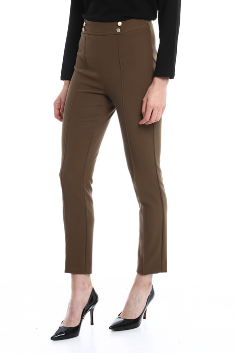 Stretch viscose-blend trousers Diffusione Tessile