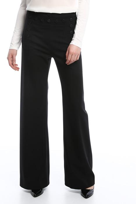 Pantaloni palazzo con bottoni Diffusione Tessile