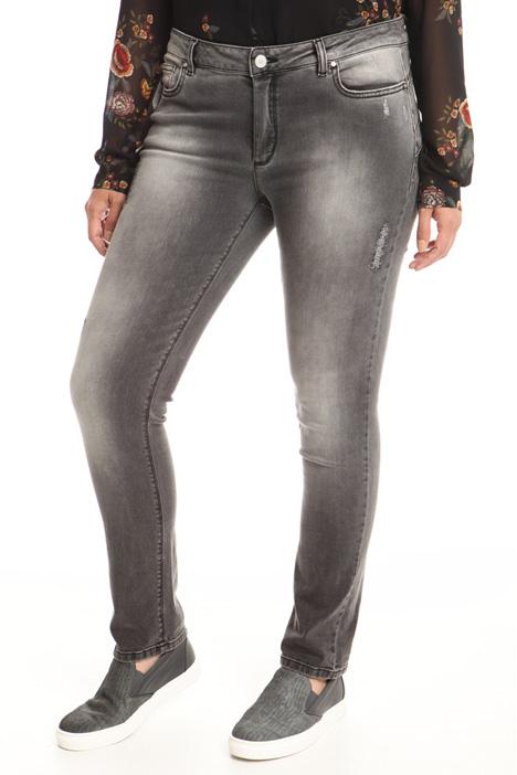 Jeans con graffi lurex Diffusione Tessile