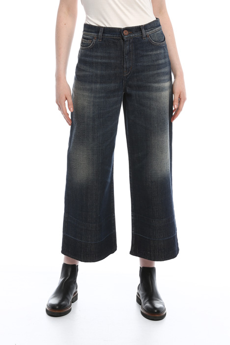 Jeans cropped stonewashed Diffusione Tessile