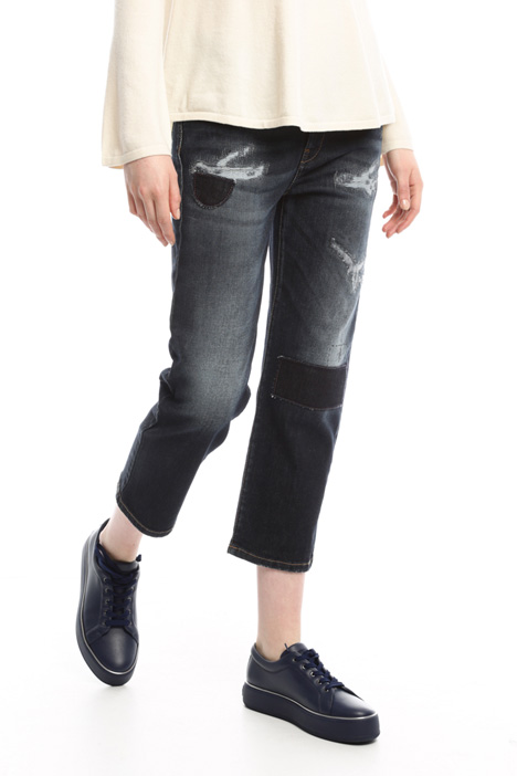 Jeans with fake tears Diffusione Tessile