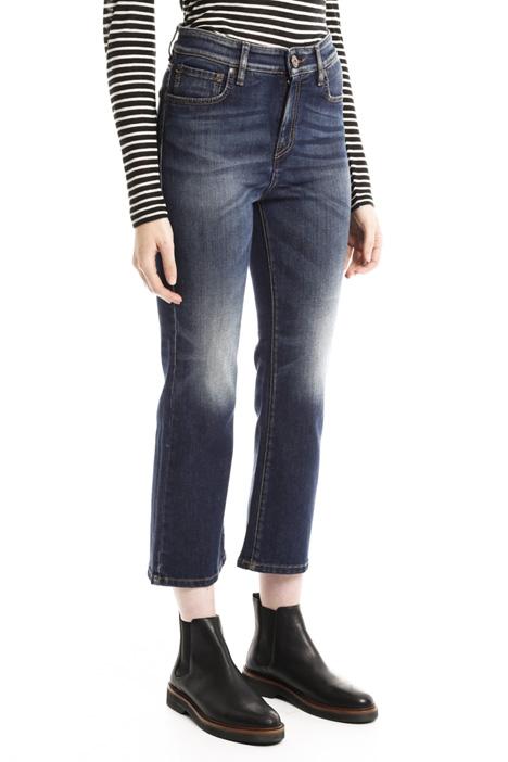 Pantaloni cropped in denim Diffusione Tessile