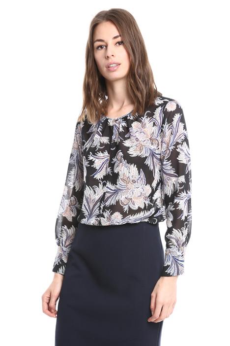 Blusa in georgette stampata Diffusione Tessile