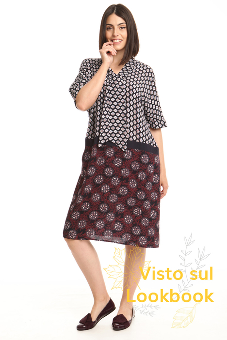 Multi-pattern dress Intrend
