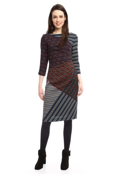 Multi-coloured patterned dress Diffusione Tessile