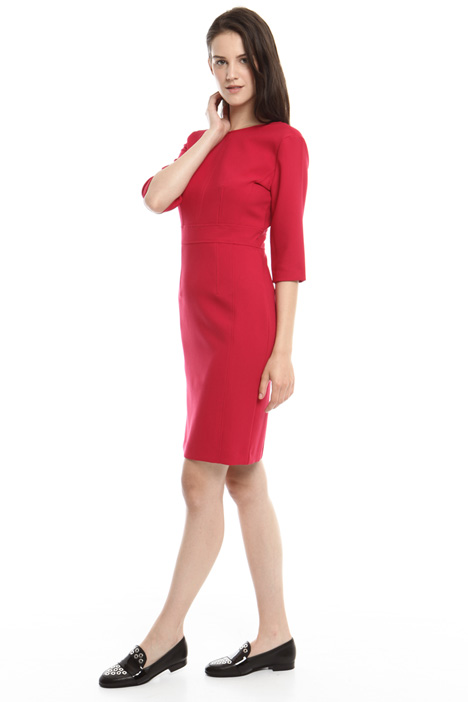 Sheath dress with V-back Diffusione Tessile