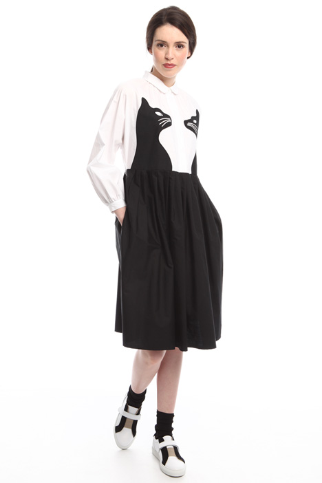Cotton dress with cat pattern Intrend
