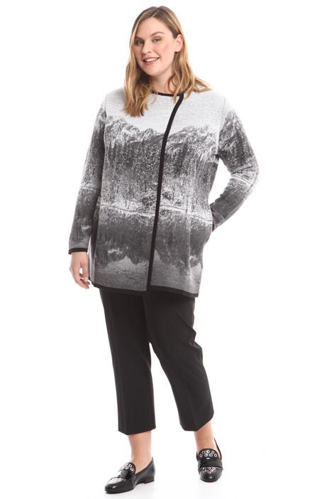 Knitted jacquard coat Diffusione Tessile