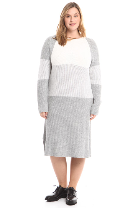 Rib knitted dress Intrend