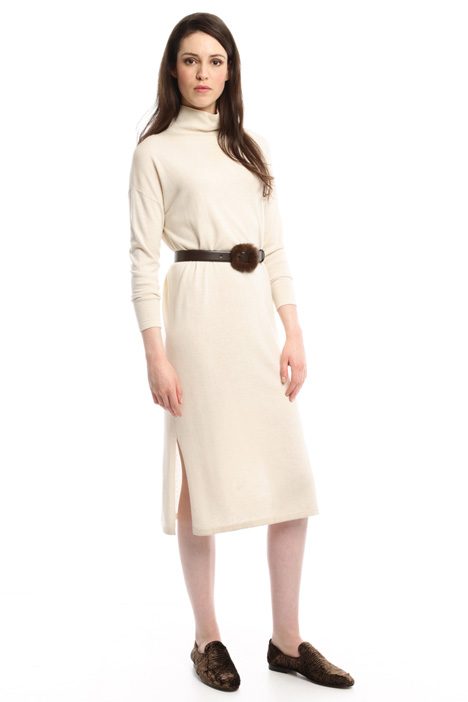 Loose-fit wool and silk dress Diffusione Tessile