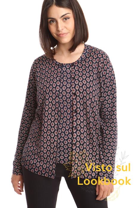 Cardigan in pura lana stampata Diffusione Tessile