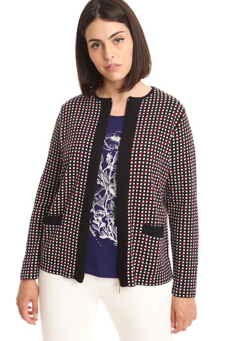 Cardigan in lana jacquard Diffusione Tessile