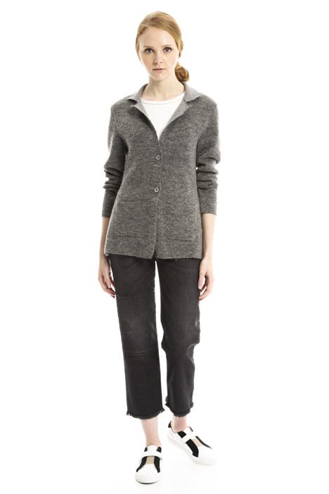 Cardigan in feltro di lana Diffusione Tessile