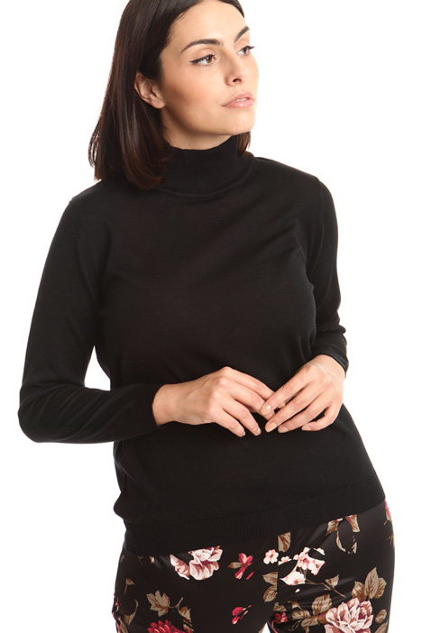 Wool blend turtleneck sweater Diffusione Tessile