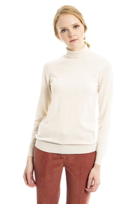 Silk blend turtleneck sweater Diffusione Tessile