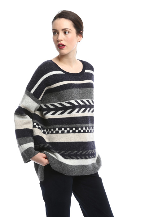 Oversized jacquard wool sweater Intrend