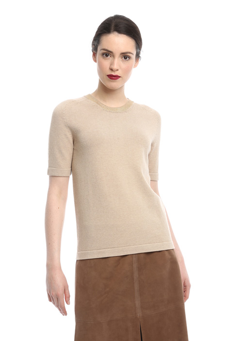 Laminated neck sweater Intrend