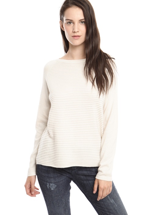 Ribbed viscose yarn sweater Diffusione Tessile
