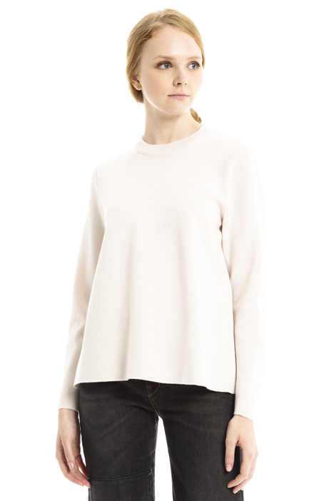 Crew neck wool sweater Diffusione Tessile
