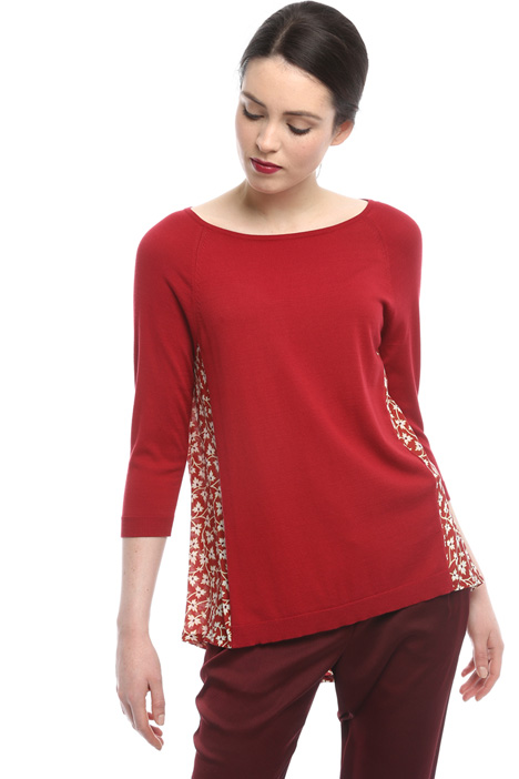Sweater with silk insert Intrend