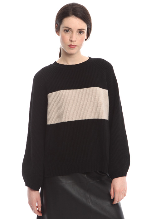 Two-tone wool sweater Diffusione Tessile